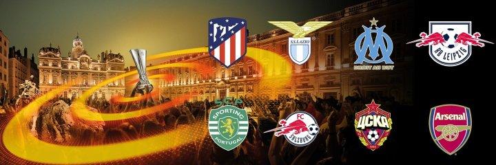 Bandeau équipes quarts Europa League
